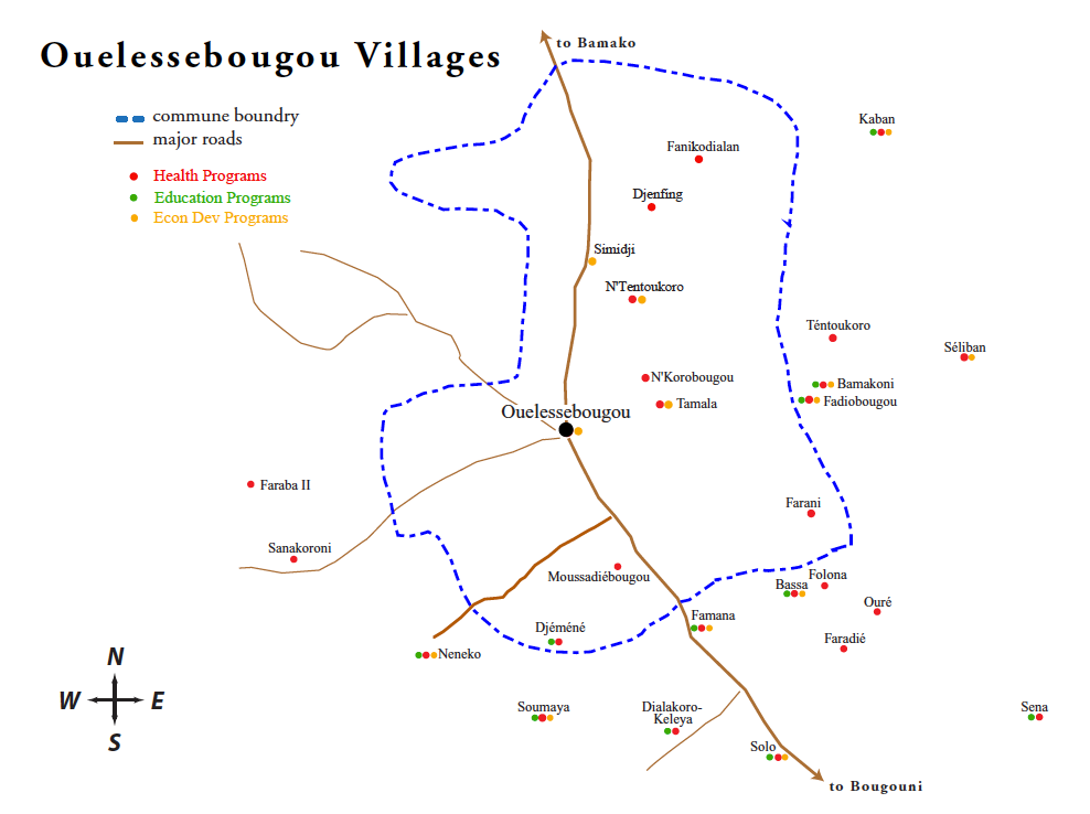 ouelessebougou-villages-map